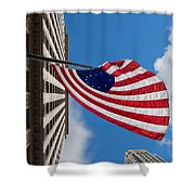 Betsy Ross Flag In Chicago Shower Curtain by Semmick Photo