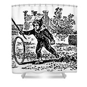 Bewick: Boy With Hoop Shower Curtain by Granger