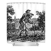 Bewick: Man Carrying Man Shower Curtain by Granger