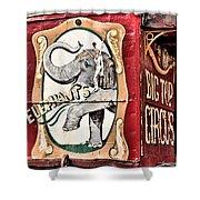 Big Top Elephants Shower Curtain by Kristin Elmquist