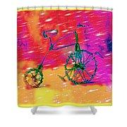 Bike 1a Shower Curtain by Mauro Celotti
