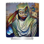 Binky's Mistress Shower Curtain by Patrick Anthony Pierson