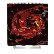 Black And Red Shower Curtain by Deborah Benoit