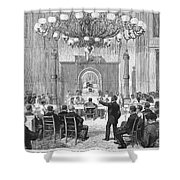 Black Convention, 1876 Shower Curtain by Granger