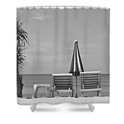 Bliss Is The Beach Shower Curtain by Georgia Fowler