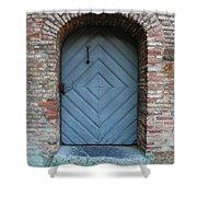 Blue Door Shower Curtain by Carol Groenen