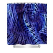 Blue Net Background Shower Curtain by Carlos Caetano