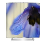 Blue Touch Shower Curtain by Jenny Rainbow