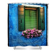 Blue Wall Shower Curtain by Mauro Celotti