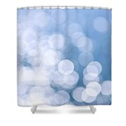 Blue Water And Sunshine Abstract Shower Curtain by Elena Elisseeva