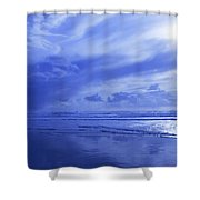 Blue Waterscape Shower Curtain by Christine Mariner