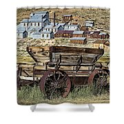 Bodie Wagon Shower Curtain by Kelley King