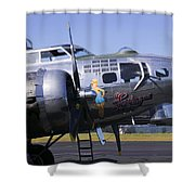Bomber Sentimental Journey Shower Curtain by Garry Gay