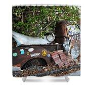 B.o.'s Fish Wagon - Key West Florida Shower Curtain by Bill Cannon