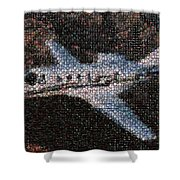 Bottle Cap Cessna Citation Mosaic Shower Curtain by Paul Van Scott