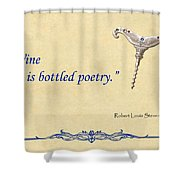 Bottled Poetry Shower Curtain by Elaine Plesser