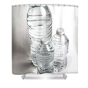 Bottled Water Shower Curtain by Photo Researchers