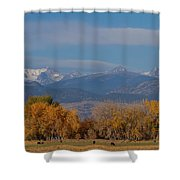 Boulder County Colorado Continental Divide Autumn View Shower Curtain by James BO  Insogna