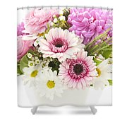 Bouquet Of Flowers Shower Curtain by Elena Elisseeva