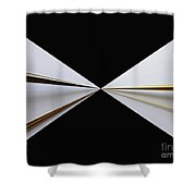 Bow Tie Shower Curtain by Cheryl Young