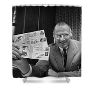 Bowie Kuhn (1926-2007) Shower Curtain by Granger