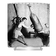 Boxing: Bat Nelson, 1920 Shower Curtain by Granger