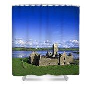 Boyle Abbey, Ballina, Co Mayo Shower Curtain by The Irish Image Collection