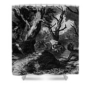 Braddocks Defeat, French And Indian Shower Curtain by Photo Researchers