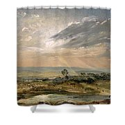 Branch Hill Pond Hampstead Shower Curtain by John Constable