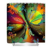 Break Away Shower Curtain by Claude McCoy