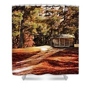 Brewer Cabin Shower Curtain by Jai Johnson