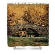 Bridge From The Past Shower Curtain by Nishanth Gopinathan