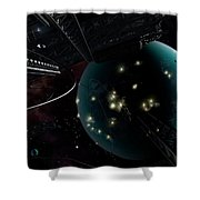 Bright Blisters Of Nuclear Energy Shower Curtain by Brian Christensen