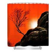 Brimham Sunset Shower Curtain by Meirion Matthias