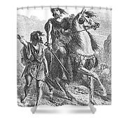 Bronze Age Warrior Shower Curtain by Photo Researchers