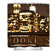 Brooklyn Bubbly Shower Curtain by Andrew Paranavitana