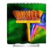 Brush Shower Curtain by Mauro Celotti