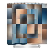 Brushed 14 Shower Curtain by Tim Allen