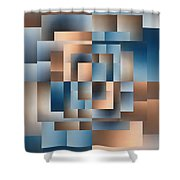 Brushed 15 Shower Curtain by Tim Allen