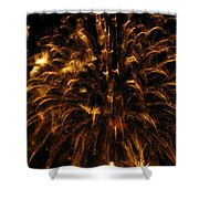 Brushed Gold Shower Curtain by Rhonda Barrett