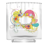 Bubble Speech Shower Curtain by Setsiri Silapasuwanchai