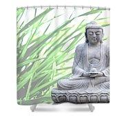 Buddha Grass Shower Curtain by Hannes Cmarits