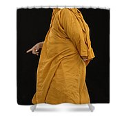 Buddhist Monk 3 Shower Curtain by Bob Christopher