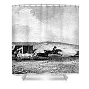 Buffalo Hunt, 1841 Shower Curtain by Granger