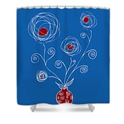 Bulb Flower Shower Curtain by Frank Tschakert