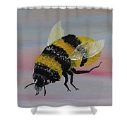 Bumble Bee Shower Curtain by Mark Moore