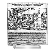 BURNING OF WITCHES, 1555 Shower Curtain by Granger