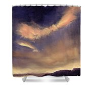 Butterfly Clouds Shower Curtain by Antonia Myatt