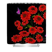 Butterfly Garden Shower Curtain by Cheryl Young
