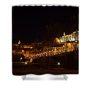 Calahorra At Night Shower Curtain by RicardMN Photography